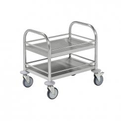 Mini-chariot inox C2 avec 2 tablettes - KONGAMEK