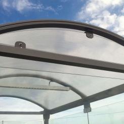 Coupe-vent de toiture pour abri fumeurs Classique - PROCITY®