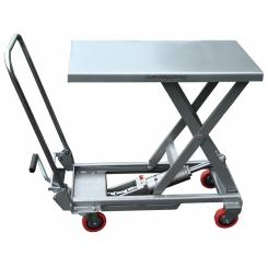 Table élévatrice manuelle en aluminium