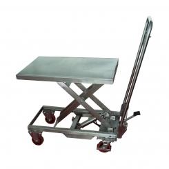 Table élévatrice manuelle en inox 304