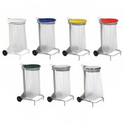 Support mobile à sac poubelle 110 litres - Collecroule