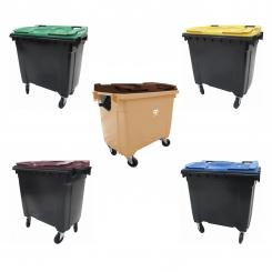 Conteneur poubelle bicolore - 770 litres