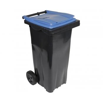 Conteneur poubelle bicolore - 120 litres
