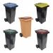 Conteneur poubelle bicolore - 120 litres - image 1