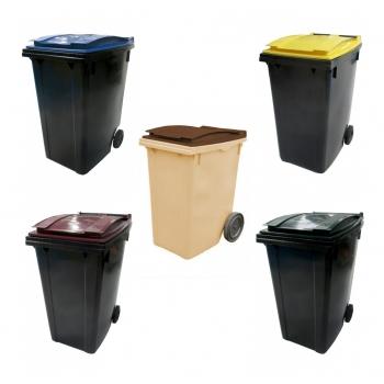 Conteneur poubelle bicolore - 360 litres