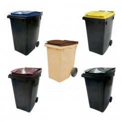Conteneur poubelle 360L bicolore