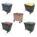 Conteneur poubelle bicolore - 500 litres - image 1