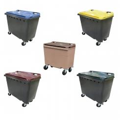 Conteneur poubelle bicolore - 500 litres