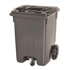 Conteneur poubelle à 3 roues - 400 litres