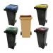 Conteneur poubelle bicolore - 140 litres - image 1