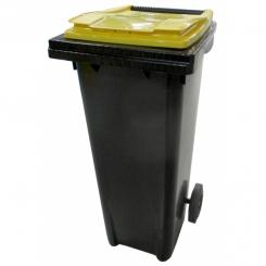 Conteneur poubelle bicolore - 140 litres