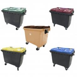 Conteneur poubelle bicolore - 660 litres