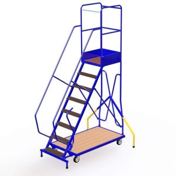 escabeau etroit mobile 8 marches avec stabilisateurs roll co. Black Bedroom Furniture Sets. Home Design Ideas