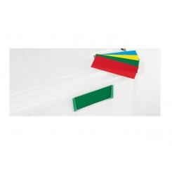 Plaque d'identification colorée pour bacs alimentaires