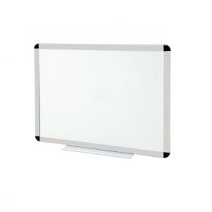 Tableau blanc émaillé cadre anodisé - hauteur 900 mm