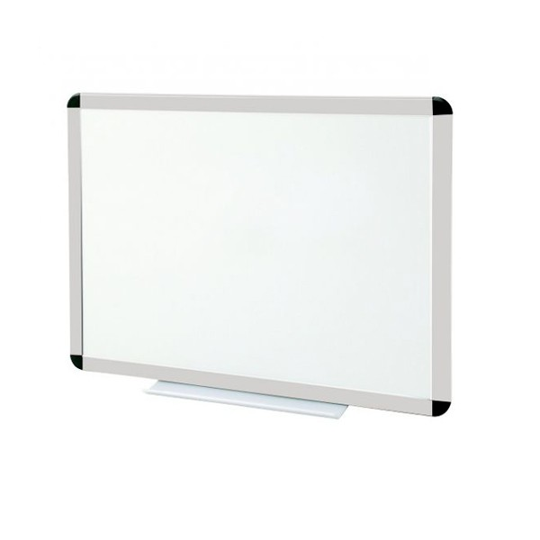 Tableau blanc émaillé cadre anodisé - hauteur 1000 mm