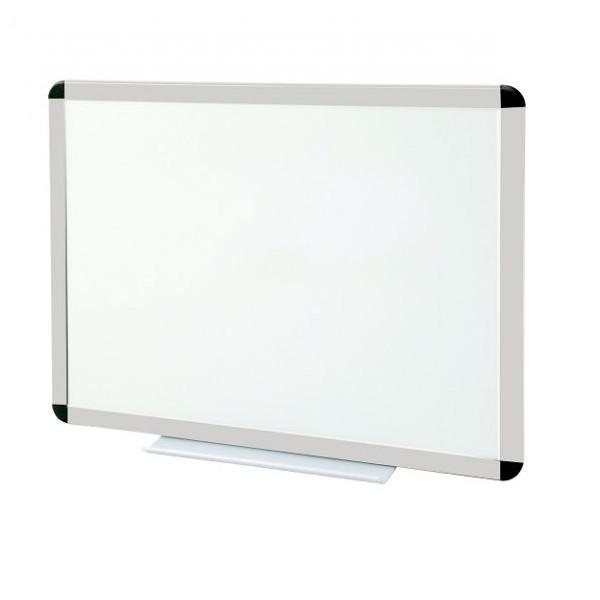 Tableau blanc émaillé cadre anodisé - hauteur 1200 mm