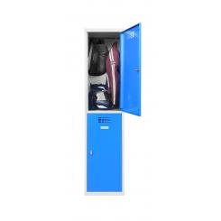 Vestiaire 2 cases superposées - 400 mm