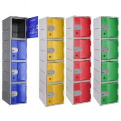 Vestiaire 4 cases - Plastique ultra solide