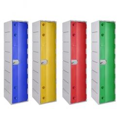 Vestiaire monobloc en plastique ultra solide - 1 case