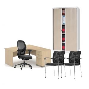 Pack mobilier de bureau - bureau avec retour droit