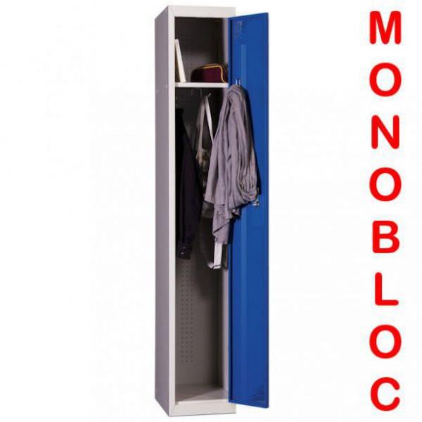Vestiaire industrie propre monobloc 1 case