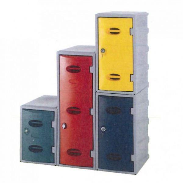 Vestiaire PE monobloc couleur  H 900 mm
