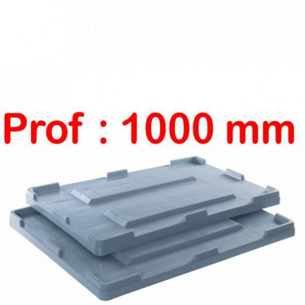 Couvercle caisse palette big box profondeur 1000 mm