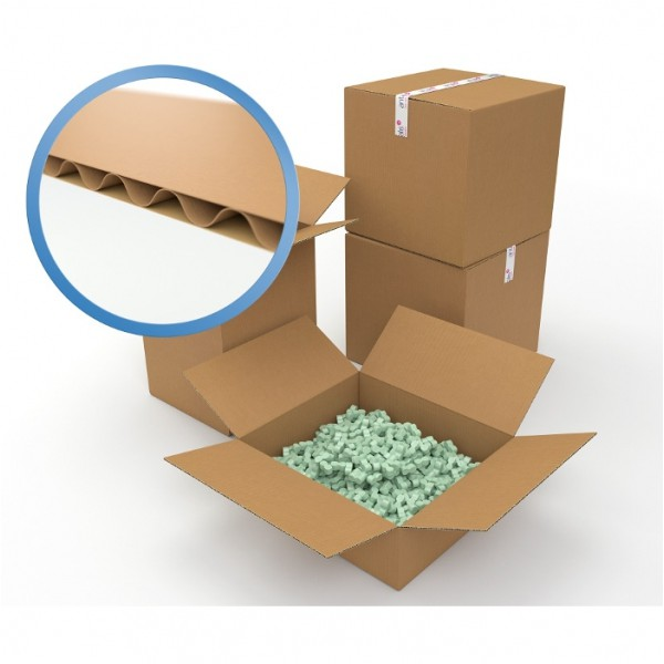 Caisse carton simple cannelure 280 x 220 x 200 mm