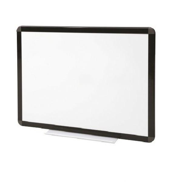 Tableau blanc laqué cadre noir
