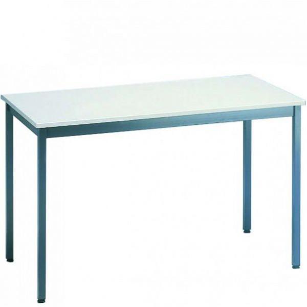 Table polyvalente - plateau mélaminé - gris clair