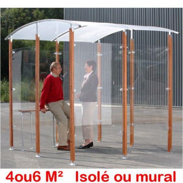 Abri fumeurs 4 et 6 m²