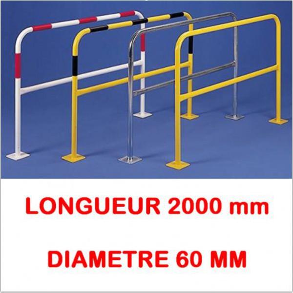 Barrière avec platine longueur 2000 diametre 60 mm