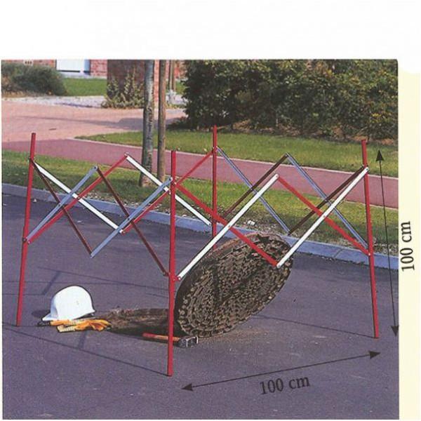 Barrière carrée télescopique