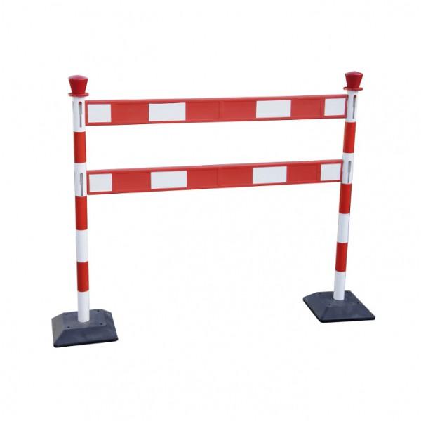 Barrière de chantier avec barrière double