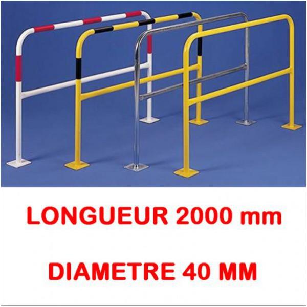 Barrières à platine longueur 2000 diametre 40 mm