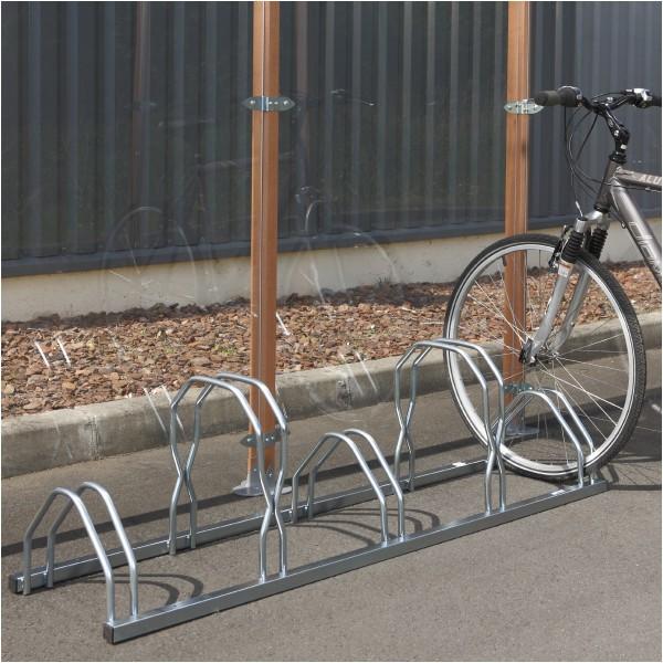 Râtelier 5 vélos au sol - Cote à cote