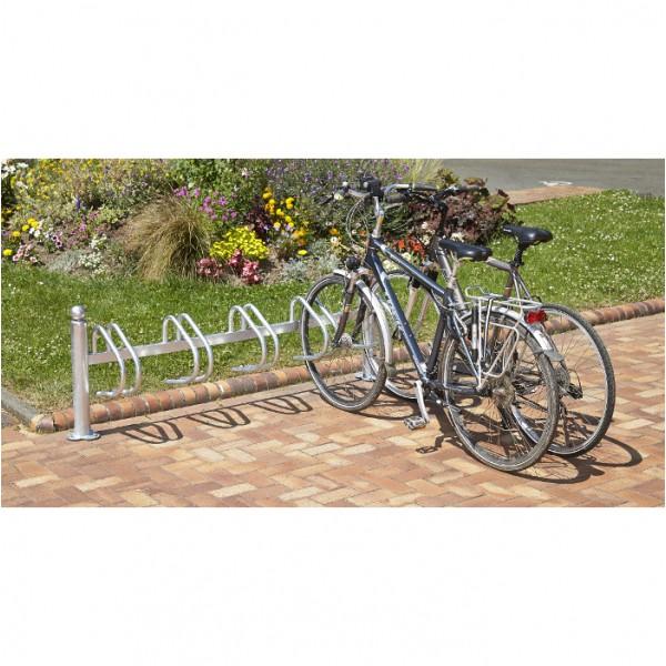 Range vélo au sol pour 5 vélos cote à cote
