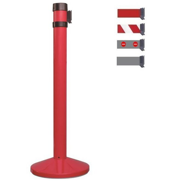 Poteau rouge à sangle 4 mètres