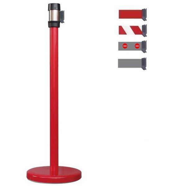 Poteau à sangle rouge 2 mètres