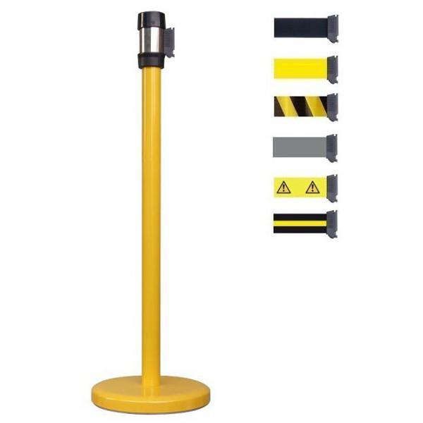 Poteau à sangle jaune 2 mètres