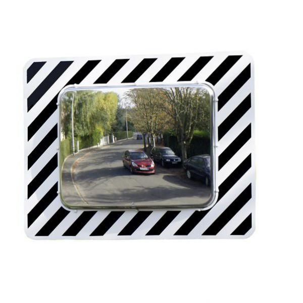 Miroir de route rectangulaire pour usage domaine public