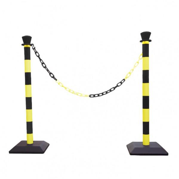 Kit poteaux PVC avec chaîne