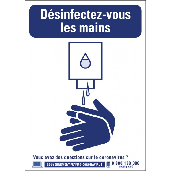 Panneau laver les mains