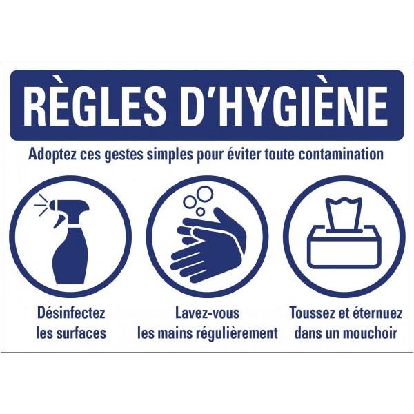 Panneau règles d'hygiène