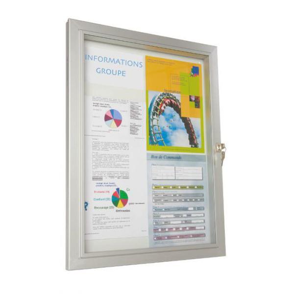 Vitrine d'extérieur classique vitre plexiglas