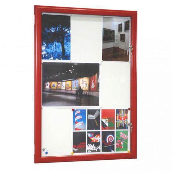 Vitrine fine d'extérieur rouge - vitre sécurit 4 mm