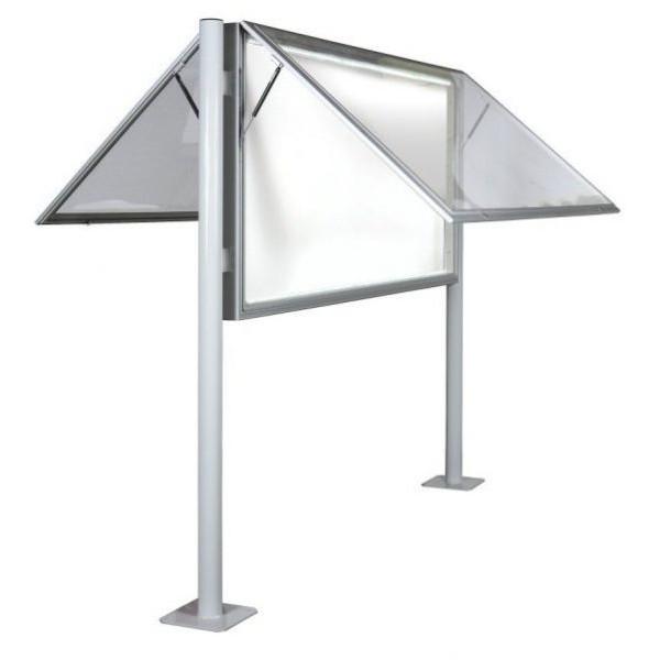 Vitrine extérieure profonde éclairée double vitre plexiglas