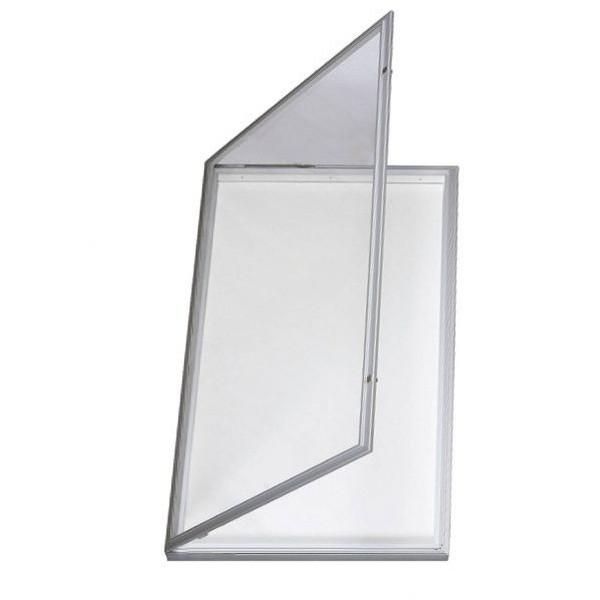 Vitrine extérieure large en verre sécurit