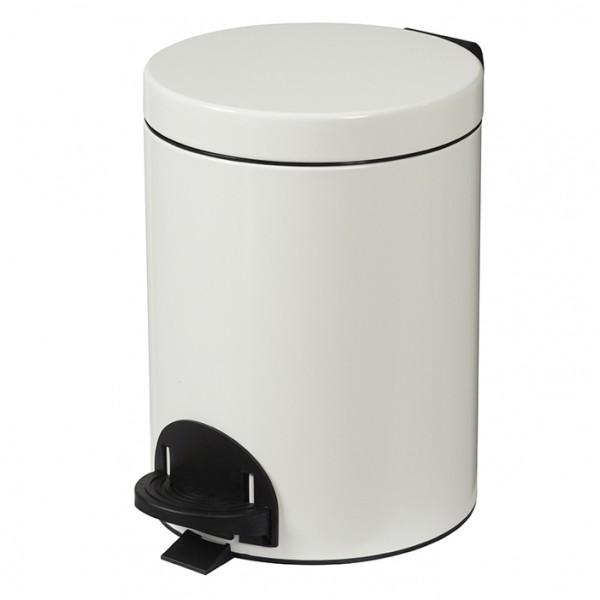 Poubelle métal à pédale - 5 litres
